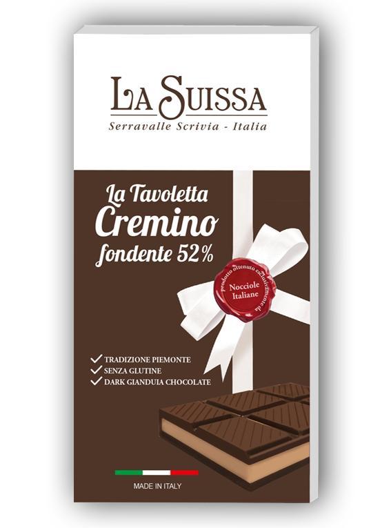 Темный шоколад 52% (кремино) 120г