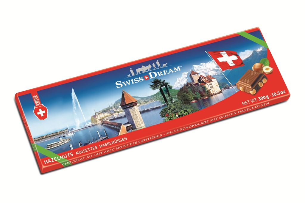Швейцарский стандарт молочный с орехом 300г