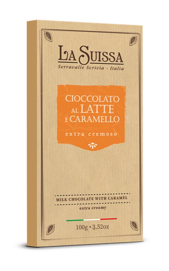 Молочный шоколад с карамелью 100г