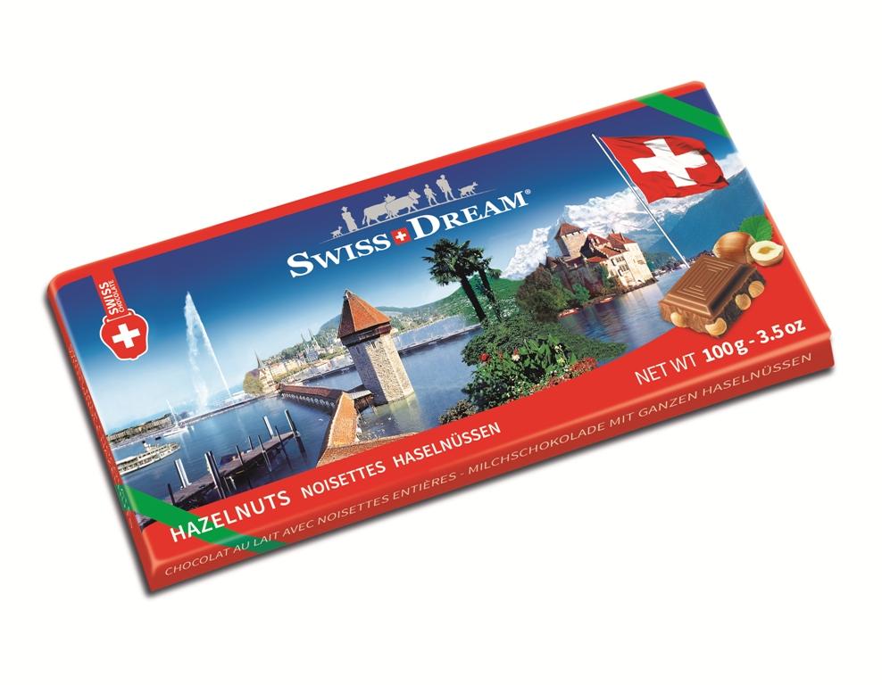 Швейцарский стандарт молочный с орехом 100г